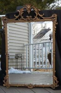 "NWOT Hickory Manor House Bevelled Gold Wall Mirror 39x26"" CONTACT US FOR SHIPPIN"