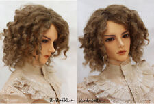 "1/3 bjd 8-9"" head synthetic mohair brown doll wig Iplehouse Soom dollfie luts"