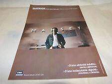 GERARD MANSET - Publicité de magazine / Advert !!! MATRICE !!!