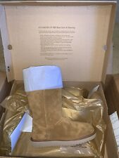 KOOLABURRA BY UGG ANDRAH TALL CHESTNUT SUEDE SHEEPSKIN WOMEN'S BOOTS