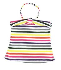 Girls Ex Zara Halter Vest Camisole Top Green Purple Pink Stripes Age 2 to 14 YR