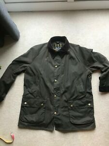 Barbour Ashby Wax Jacket. XXL, Olive Green, Shooting, Fishing, Dog walking.