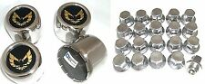 1977 - 1981 TRANS AM SNOWFLAKE CENTER CAP & LUG NUT SET GOLD STAINLESS OE STYLE!