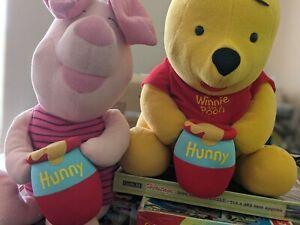 Disney Winnie the Pooh and Piglet Fisher Price Mattel 2004 Large Soft Plush Toy