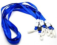100x PRO BLUE Lanyard Neck Strap Swivel Plastic Clip on For ID Card Pass Holder