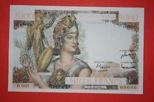 rare 1000 francs athéna type 1951 billet non émis - copie - introuvable