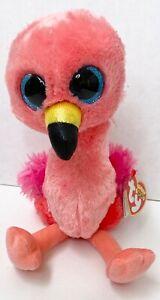 TY SILK BEANIE BOO GILDA THE FLAMINGO SOFT PLUSH TOY 26cm pink beanie boo GUC