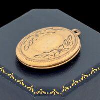 Antique Vintage Art Nouveau 14k Gold Filled GF Chased Locket Charm Pendant 4.8g
