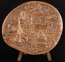 Medaille Paris ses monuments Révolution, Tour eiffel Bastille sc Roch 427g medal