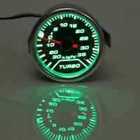 52mm Universal Green LED Turbo Boost Gauge Meter PSI Dials Face Vaccum Pipe