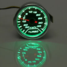 2'' 52mm Universal Green LED Turbo Boost Gauge Meter PSI Dials Face Vaccum Pipe