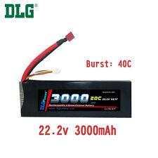 Genuine DLG RC Battery 22.2V 6S 20C 3000mAh Burst 40C Li-Po LiPo Dean's T plug