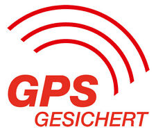4x GPS gesichert rot AUTO KFZ Aufkleber GPRS TRACKER ORTUNG TRACKING PEILSENDER