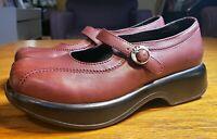 Dansko Women's 39 US 8.5 - 9 EU Oxblood Red Black Mary Jane Clog Comfort Shoe