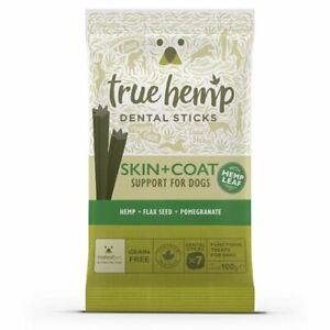 True Hemp Skin and Coat Dental Sticks For Dogs - Grain Free 7pk