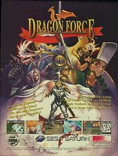 Original 1997 Sega Saturn DRAGON FORCE JRPG video game magazine print ad page