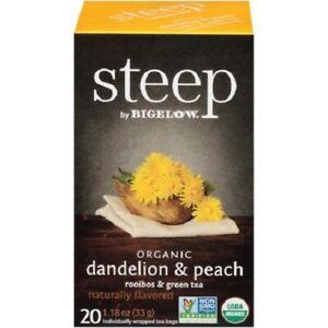 Steep by Bigelow Organic Dandelion & Peach Rooibos & Green Tea