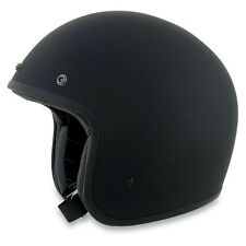AFX Low Profile Skinny Fit Matt Black Open Face Bobber Cruiser Helmet