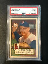 1952 Topps #345 Sammy White Red Sox PSA 6 High Number Set Break