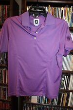FootJoy Foot Joy Golf Purple Polo Shirt W logo on cuff Ladies sz M  (B107)