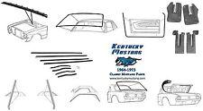Mustang Weatherstrip Kit Coupe 1964 1965 1966