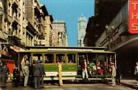 Cable Car Turntable San Francisco California Unposted Vintage Postcard