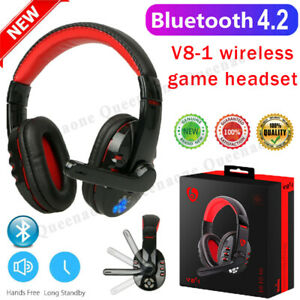Bluetooth Wireless Gaming Headset Headphone With Mic for PC Laptop Computer UK✨