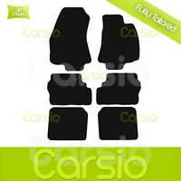 Black Fully Tailored Rubber Car Floor Mats For Vauxhall Zafira A 1998 to 2005