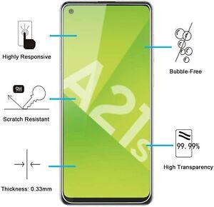 Lot /Film Vitre Verre Trempé de Protection d'écran Pour Samsung Galaxy A21S
