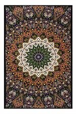 Sunshine Joy Indian Dark Star Elephant Tapestry 60 x 90 inches- 3D Reactive Work