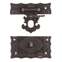Jewelry Box Hasp Latch Hooks Hasp Latch Lock Case Boxes Quartet Buckle DIY