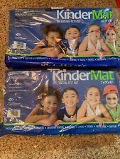 "Lot of 2 Kindermat 1"" Nap Mat Blue/Red Vinyl Preschool, Daycare, Kindergarten"