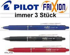 PILOT CLICKER Tintenroller FRIXION BALL radierbar blau schwarz rot Roller NEU