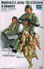 Trumpeter 00415 Modern US Army CH 47 D Crew & Infantry - Soldaten - 1:35