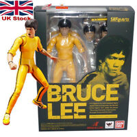 "6"" Bruce Lee Yellow Track Suit Action Figure Toy Doll Bandai Kid Gift Movable UK"