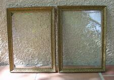 CADRES BOIS MOULURE PÂTE AVEC VERRES ANCIENS 36,7 x 26,7 cm.