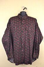 Vtg Ralph Lauren Shirt XL Western Paisley Cowboy Top Frontier Rodeo 1980s