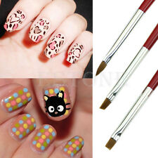 3 pcs Acrylic Drawing Large Nail Art Manicure Brushes for Painting 3D Mold DIY