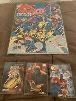 Marvel Xmen Poster Magazine Plus 3 Cards