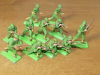 BRITAINS DEETAIL, WW2, 11 X U.S ARMY INFANTRY,...1/32 TOY SOLDIERS.