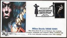2012  ~ MILES DAVIS / EDITH PIAF ~ GLEN CACHET FDC 2 COVERS
