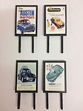 4 Model Railway Billboards / Posters - Trackside Signs - OO Gauge - Pack 191
