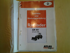 Atlas AR 65 Bedienungsanleitung / Operation Manual