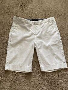 Banana Republic Womens Size 4 Solid White Bermuda Shorts Cotton