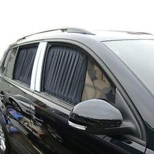 2X 70cm Black Car UV Window Adjustable VIP Mesh Style Curtain Sunshade Visor 70S