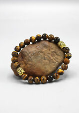 with Buddha Head Spacer Tigers Eyes Stone Bracelet