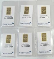 2- GRAM-- VALCAMBI SUISSE BAR 999.9 FINE GOLD BAR- SEE OTHER GOLD LISTINGS
