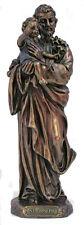St. Joseph/Child Statue, Cold Cast Bronze