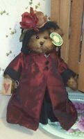 "NICOLE 14"" Bearington Faux Mink Bear New $32.00 2004 Collectible Series w/tag"