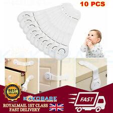 10 X Baby Kid Child Safety Lock Proof Cabinet Cupboard Drawer Fridge Pet Door UK